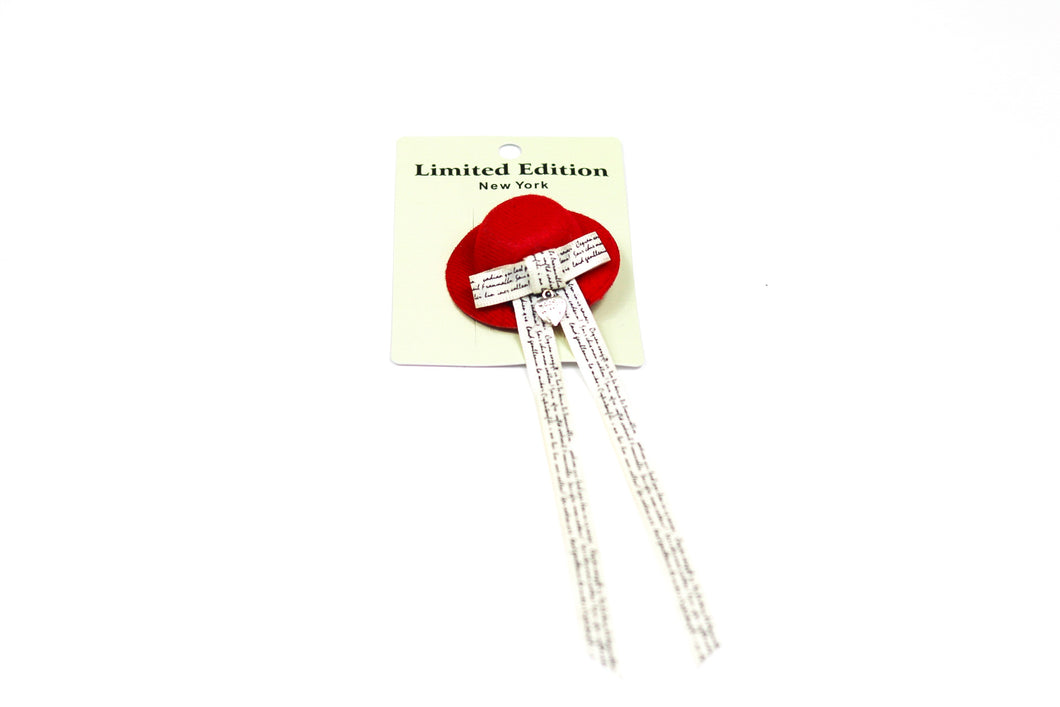 Little Lady Hat Clip - Small - Red