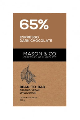 65% ESPRESSO DARK CHOCO BAR by MASON & CO - Vnya, Of the Wild