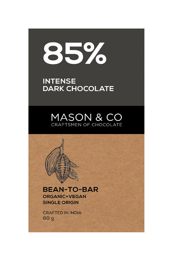 85% INTENSE DARK CHOCO BAR by MASON & CO - Vnya, Of the Wild