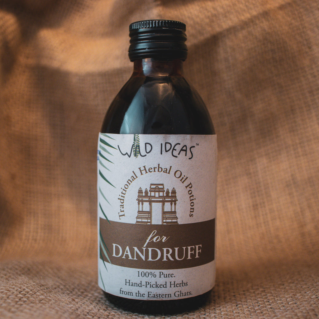 TRADITIONAL HERBAL OIL POTIONS FOR DANDRUFF by WILD IDEAS - Vnya, Of the Wild