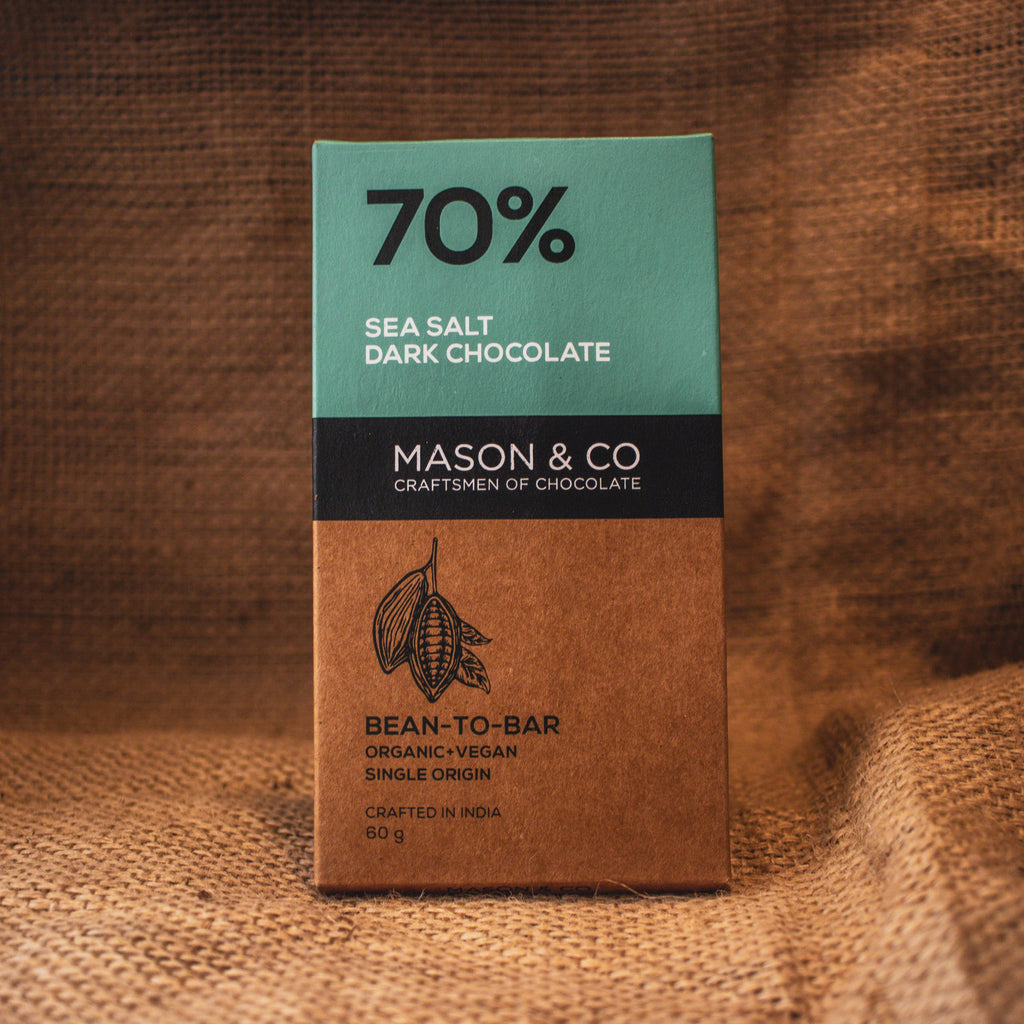 70% SEA SALT DARK CHOCO BAR by MASON & CO - Vnya, Of the Wild