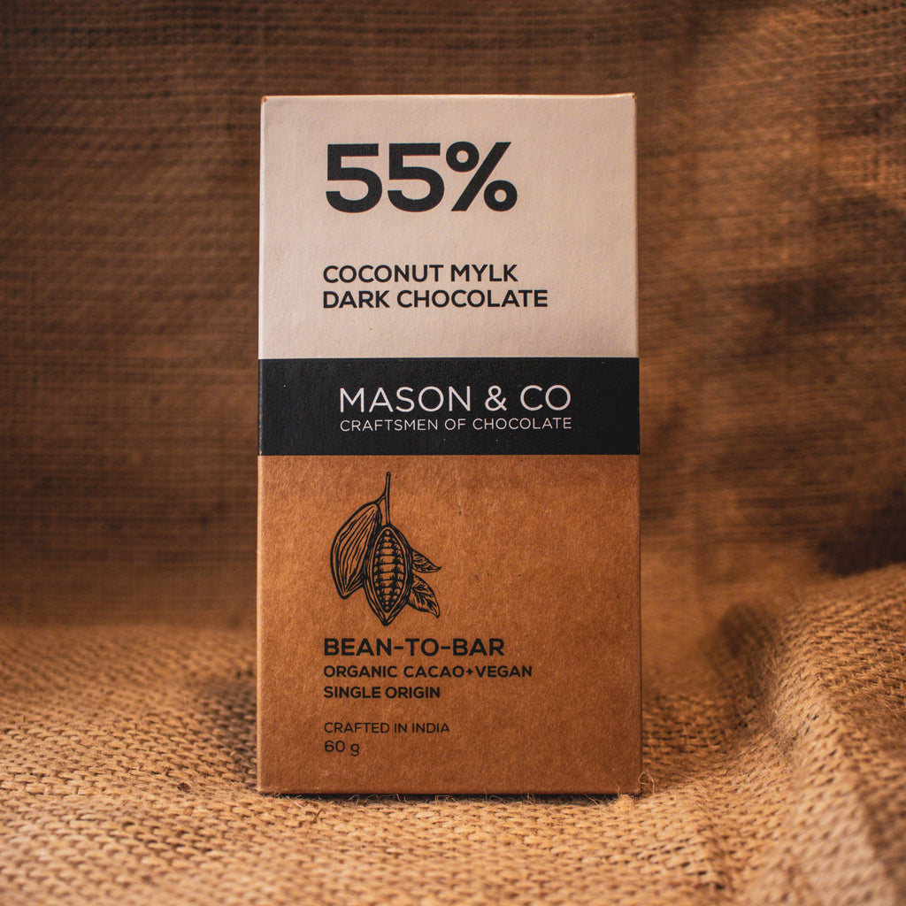 55% COCO MILK DARK CHOCO BAR by MASON & CO - Vnya, Of the Wild