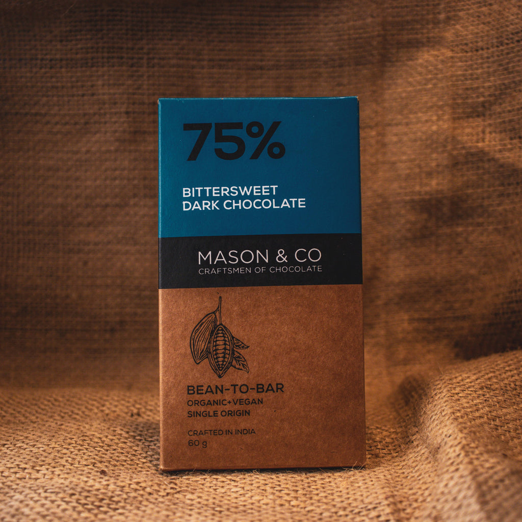 75% BITTERSWEET DARK CHOCO BAR by MASON & CO - Vnya, Of the Wild