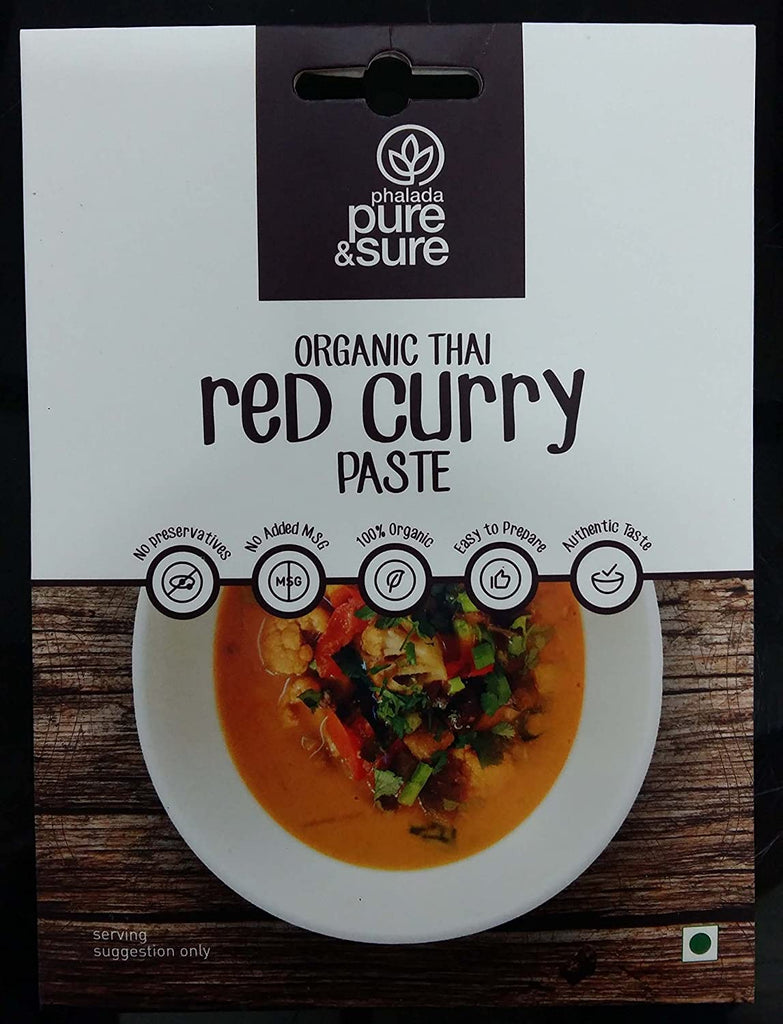 THAI RED CURRY PASTE 50GM by PURE & SURE - Vnya, Of the Wild