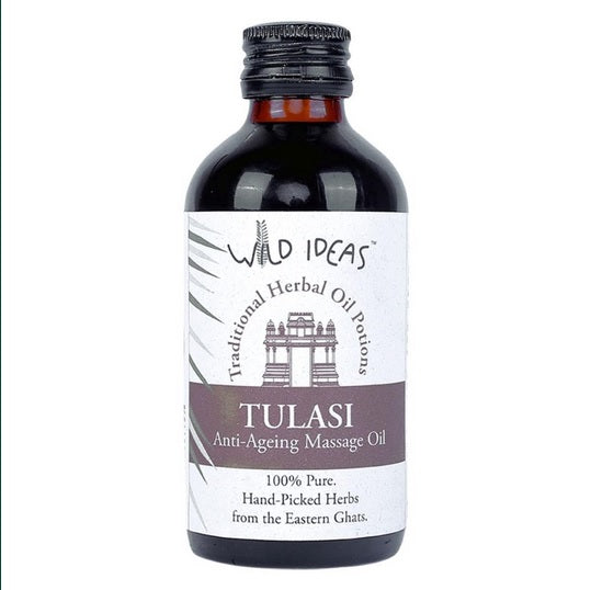 TRADITIONAL HERBAL OIL POTIONS TULASI ANTI AGEING MASSAGE OIL by WILD IDEAS - Vnya, Of the Wild