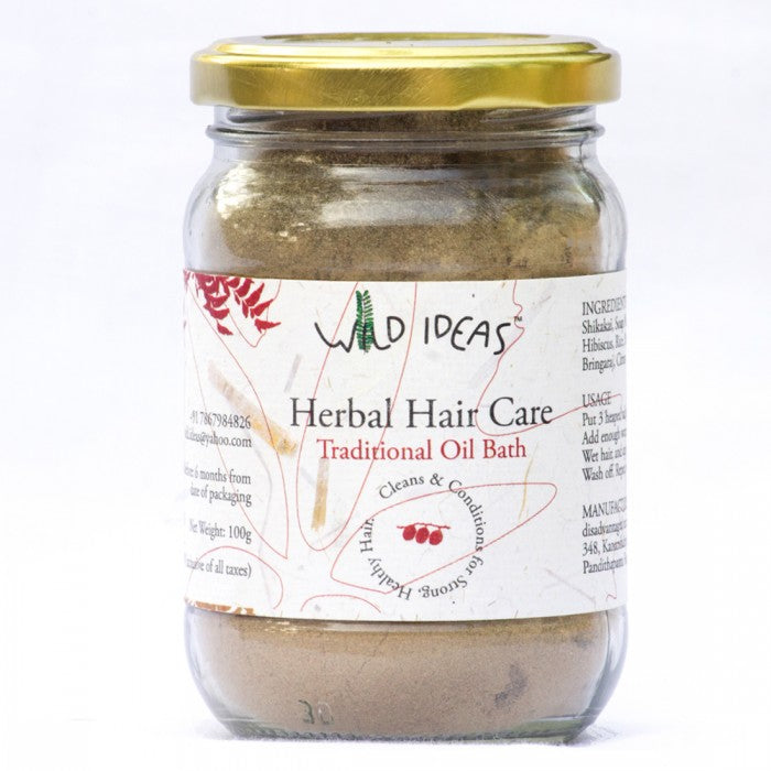 HERBAL HAIR CARE TRADITIONAL OIL by WILD IDEAS - Vnya, Of the Wild