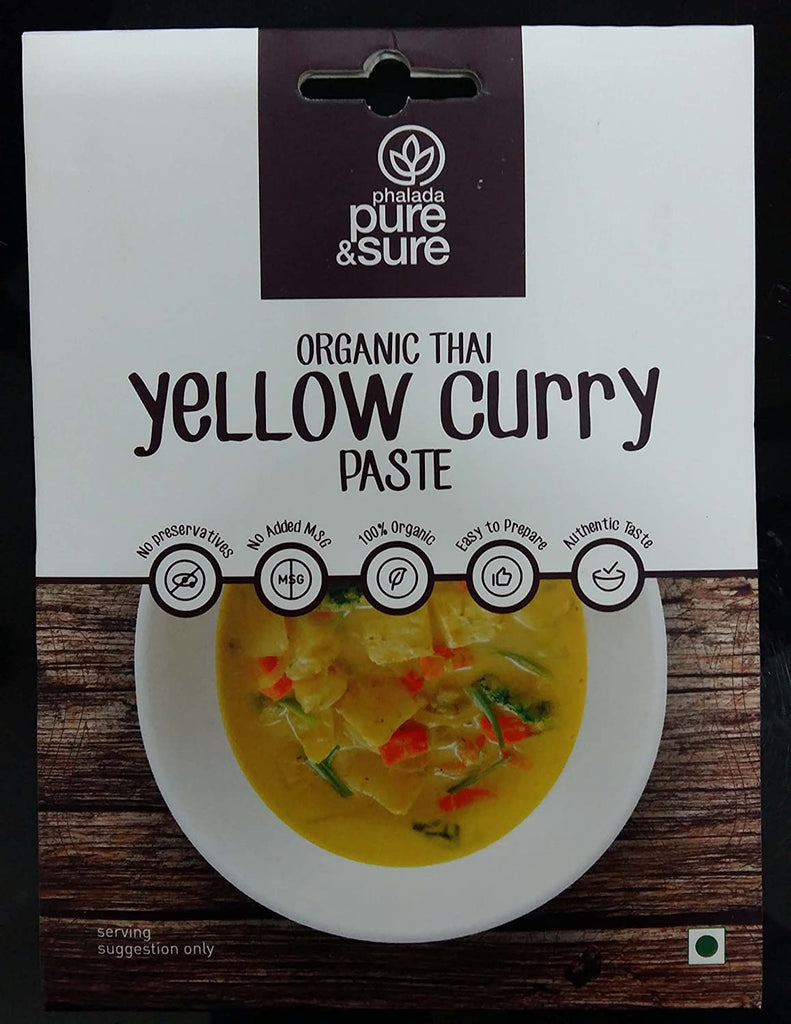 THAI YELLOW CURRY PASTE 50GM by PURE & SURE - Vnya, Of the Wild