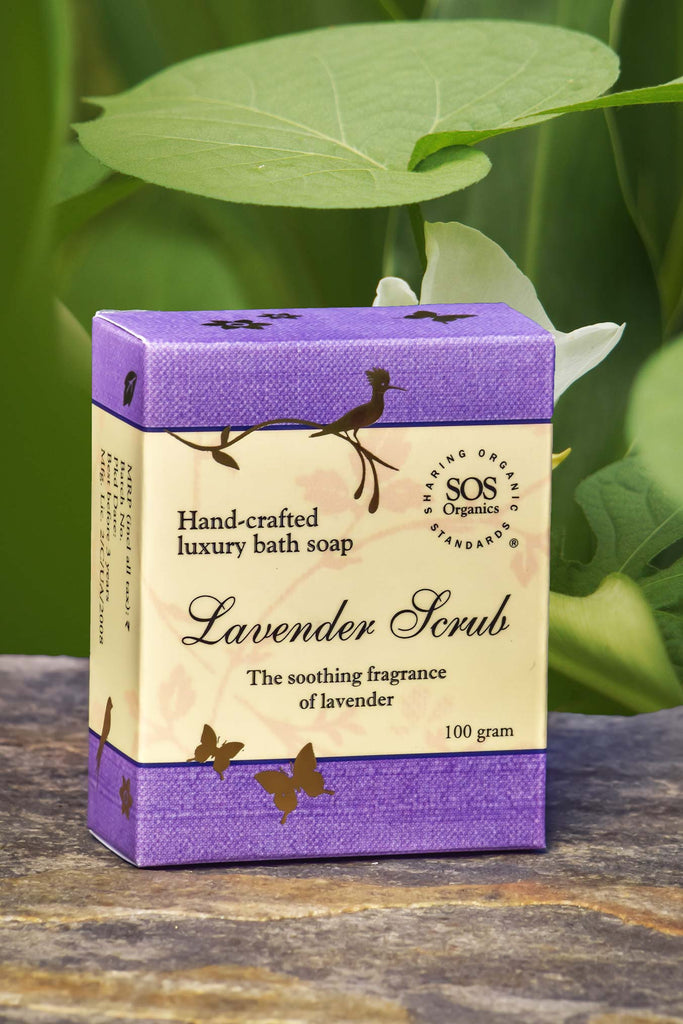 LAVENDER SCRUB SOAP 100GM by SOS - Vnya, Of the Wild