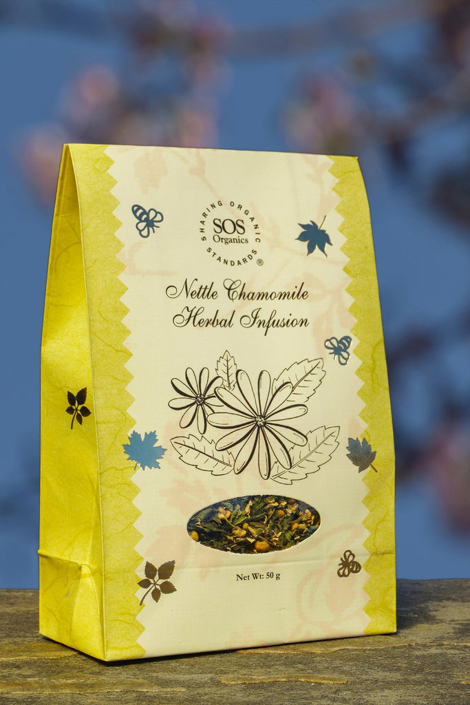 HIMALAYAN NETTLE CHAMOMILE TEA 50GM by SOS - Vnya, Of the Wild