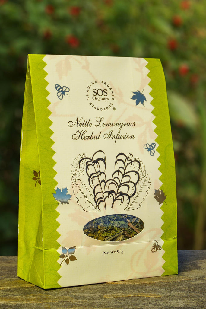 HIMALAYAN NETTLE LEMONGRASS TEA 50GM by SOS - Vnya, Of the Wild