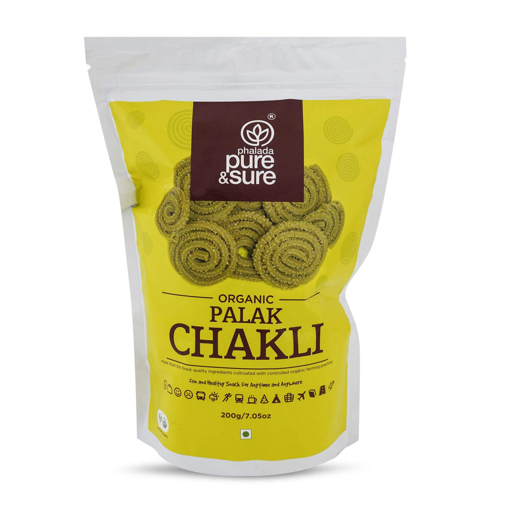 PALAK CHAKLI 200GM by PURE & SURE - Vnya, Of the Wild