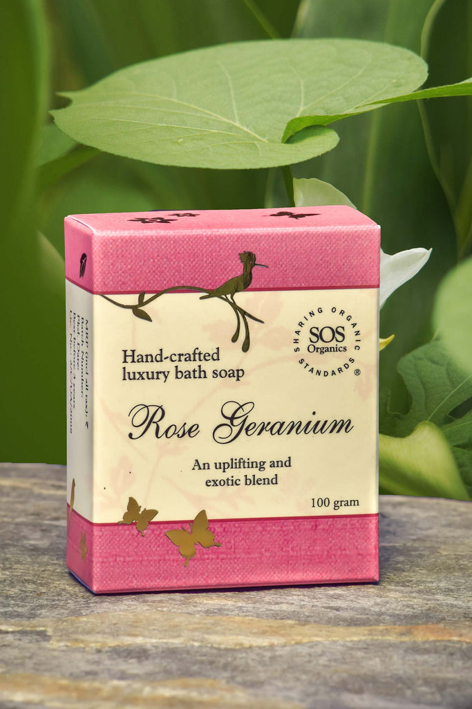 ROSE GERANIUM SOAP 100GM by SOS - Vnya, Of the Wild