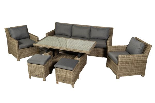 Pre-order: Poole 7 Seater Sofa Dining Set