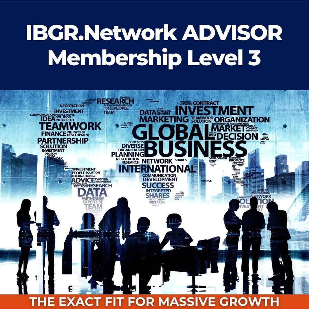IBGR.Network ADVISOR Membership Level 3