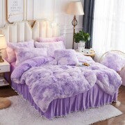 50%OFF>>Fluffy Blanket With Pillow Cover 3 Pieces Set