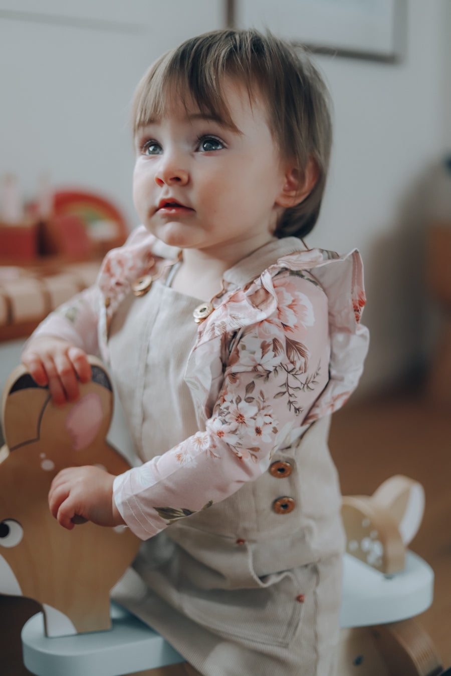Shimmy Long Sleeve Onesie/Top - JASMINE  PEARL MIST