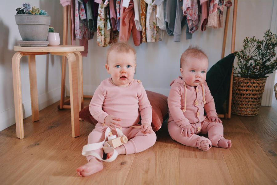 BASICS Cotton Ribbed Onesie/Top - DUSTY PINK