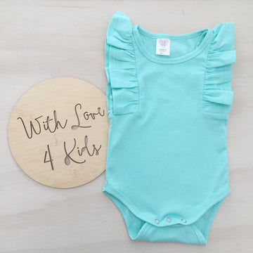 Shimmy Tank Onesie/Top - MINT