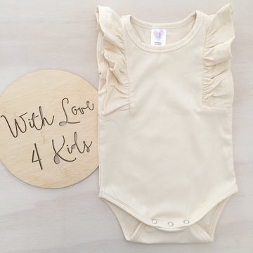 Shimmy Tank Onesie/Top - CREAM