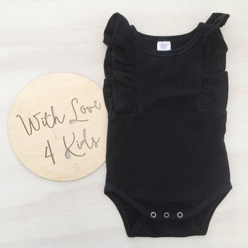 Shimmy Tank Onesie/Top - BLACK