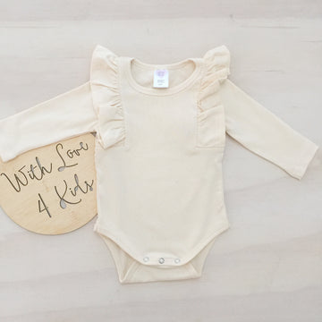 Shimmy Long Sleeve Onesie/Top - CREAM