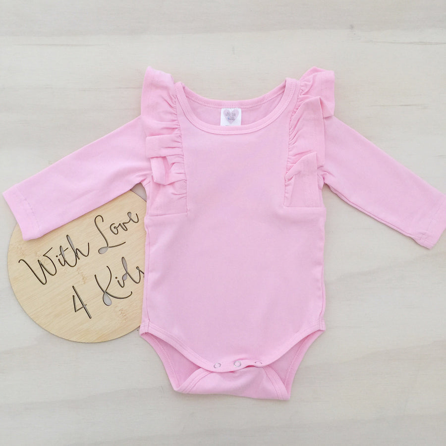 Shimmy Long Sleeve Onesie/Top - PINK
