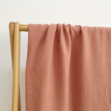 COTTON MUSLIN Wrap - TERRACOTTA