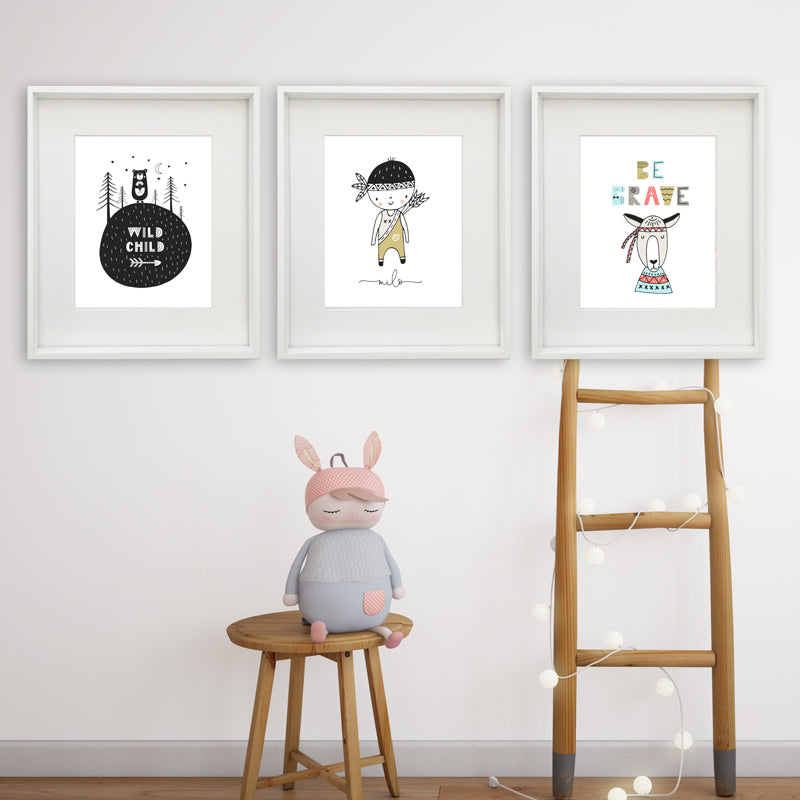 Scandi Trio Personalised Printable Artwork