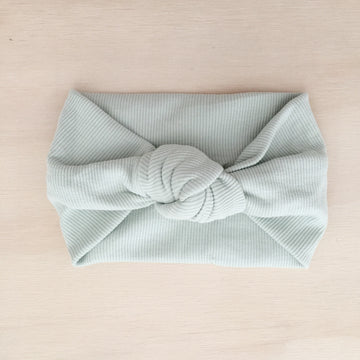 Ribbed Knot Headband - MEADOW GREEN