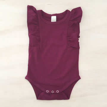 Shimmy Tank Onesie/Top - WINE