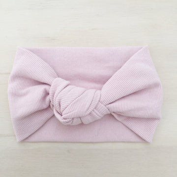 BASICS Ribbed Knot Headband - ROSE QUARTZ