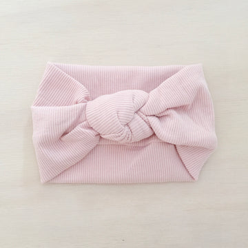 Ribbed Knot Headband - BLUSH