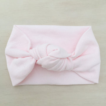 BASICS Ribbed Knot Headband - POWDER PINK