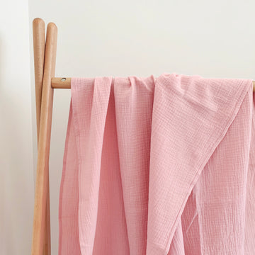 COTTON MUSLIN Wrap - BLUSH