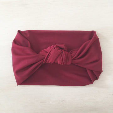 Swimmers Knot Headband - WINE