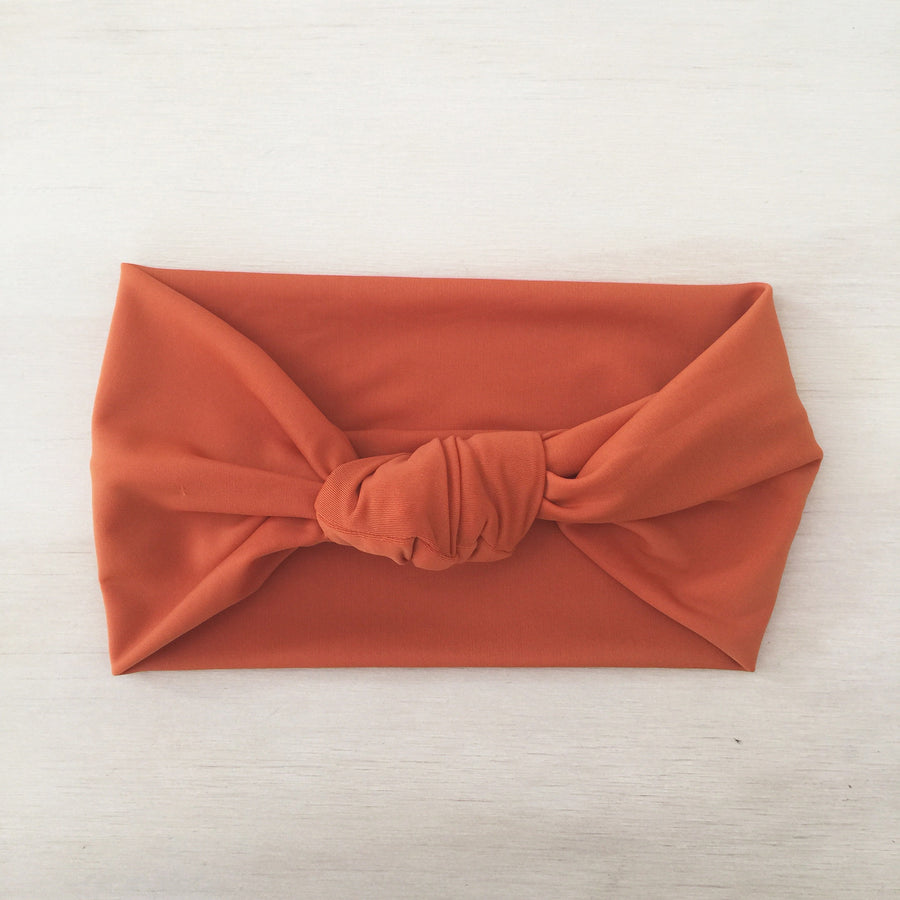 Swimmers Knot Headband - BURNT ORANGE