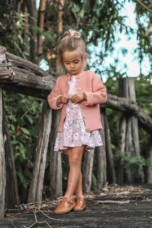 Poppy Knitted Cardigan - TUSCAN TERRACOTTA