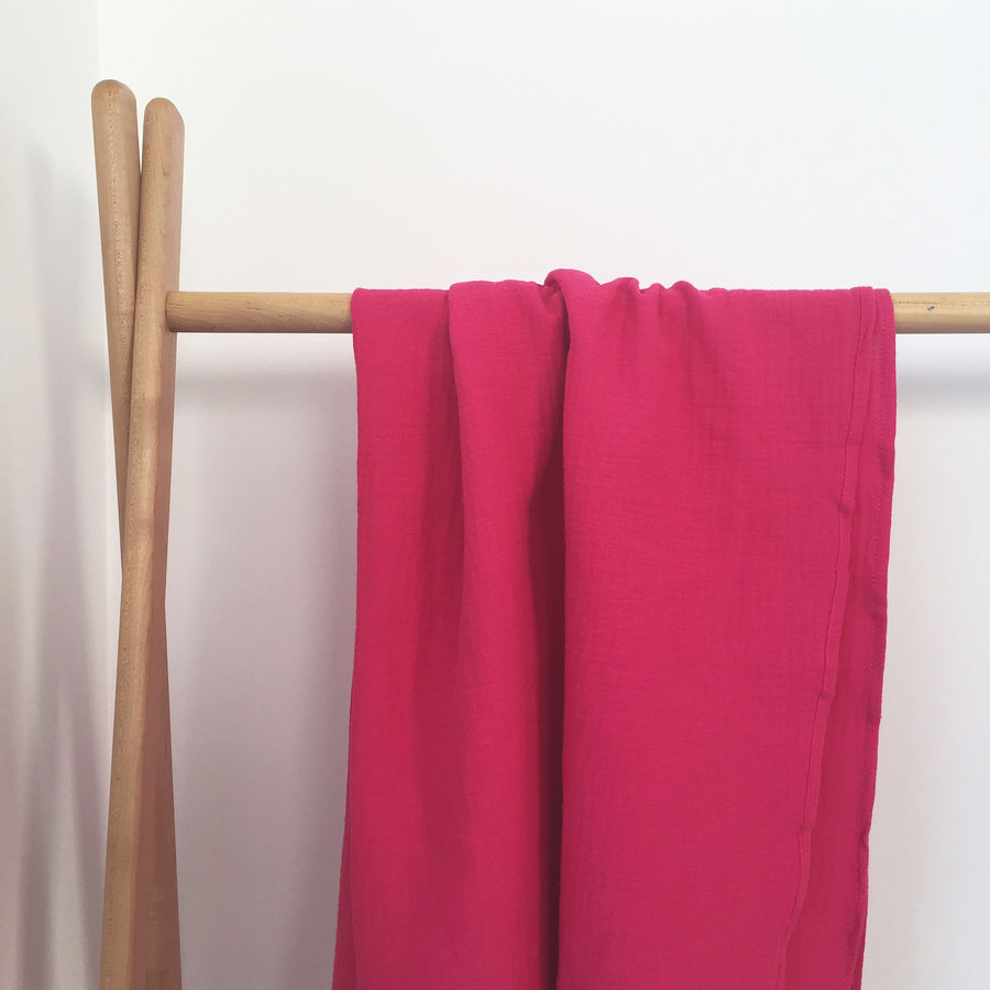 COTTON MUSLIN Wrap - FUCHSIA
