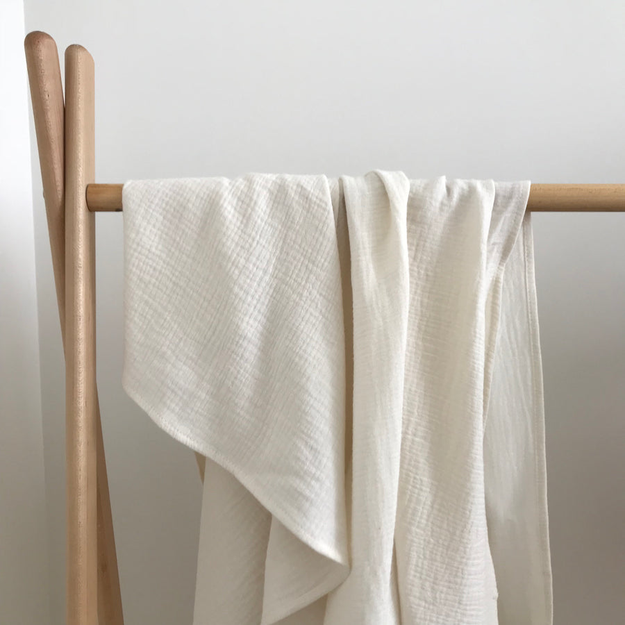 COTTON MUSLIN Wrap - OATMEAL
