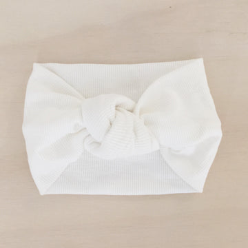 Ribbed Knot Headband - MILK