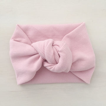 Ribbed Knot Headband - DUSTY PINK