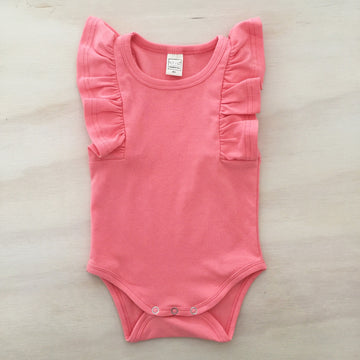 Shimmy Tank Onesie/Top - CORAL