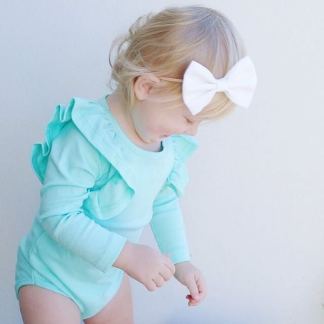 Shimmy Long Sleeve Onesie/Top - MINT
