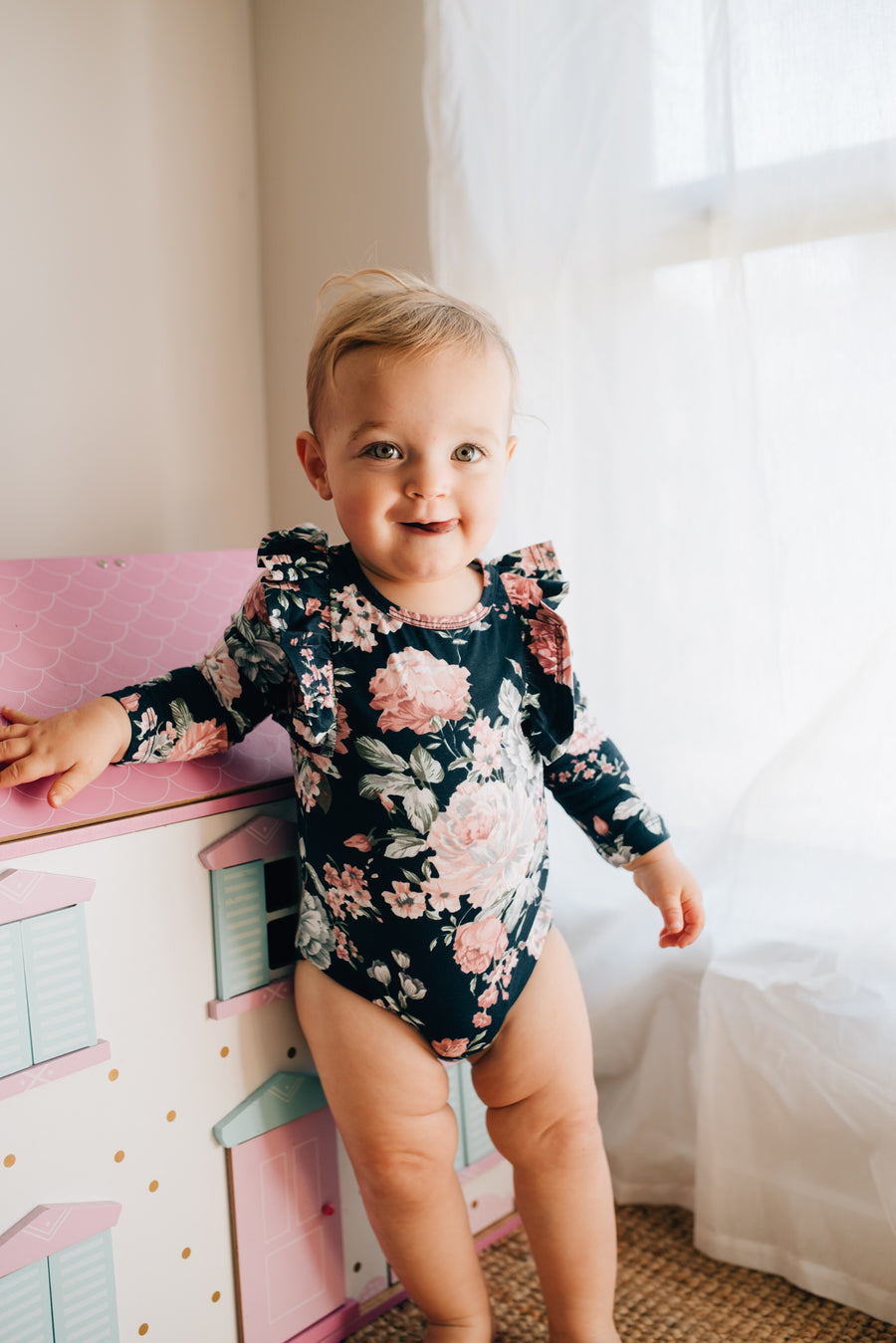 Shimmy Long Sleeve Onesie/Top - ADDILYN