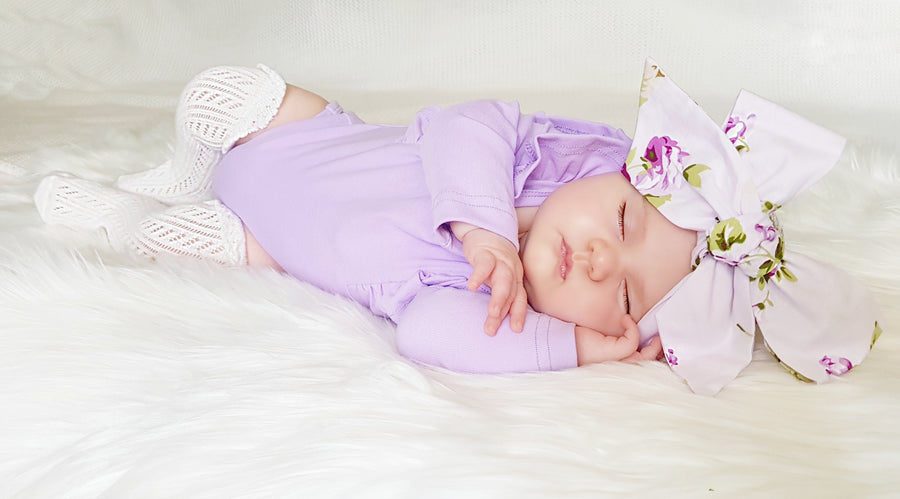 Shimmy Long Sleeve Onesie/Top - LILAC