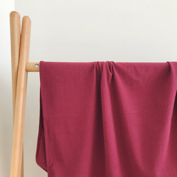 BASICS COTTON RIBBED Wrap - WINE