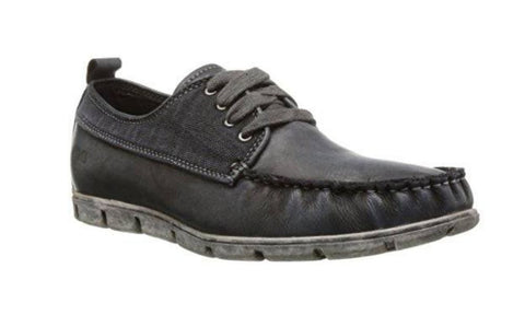Bed Stu Men's Jolly Black Garment Dye Crust Canvas Oxford US 8.5