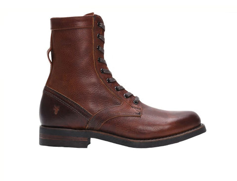Frye Men's Engineer Tall Lace Redwood Oiled Leather Boot US 7