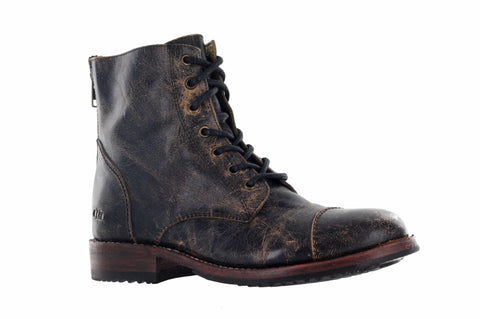 Bed Stu Men's Black Lux Protege Combat Boot US