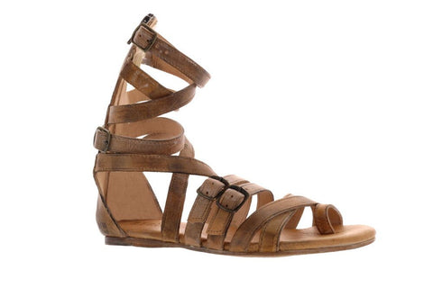 Bed Stu Women's Tan Rustic White BFS Seneca Gladiator Sandal US
